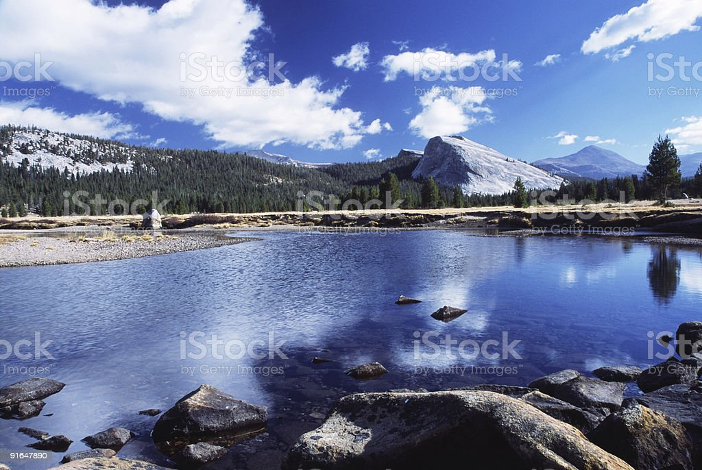 Tuolumne River in Yosemite National Park royalty-free stock photo