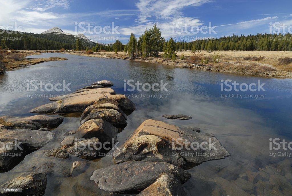 Tuolumne River in Yosemite National Park royalty-free stock photo