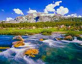 Tuolumne River near Tioga Pass, Yosemite NP CA