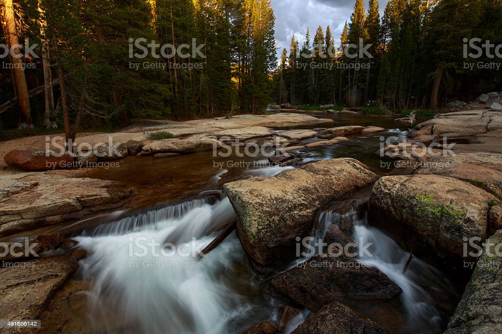 Tuolumne River Yosemite National Park stock photo