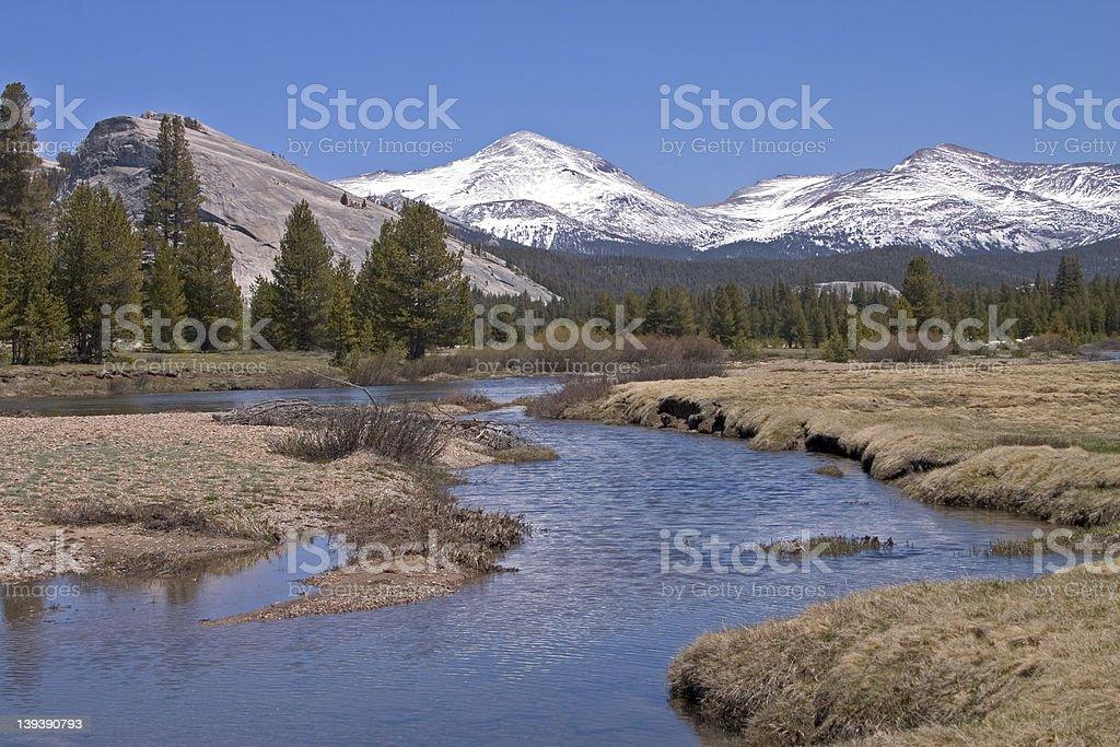 Tuolumne River, Yosemite stock photo