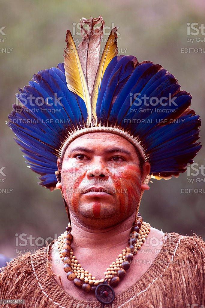 Tupinambá Portrait stock photo