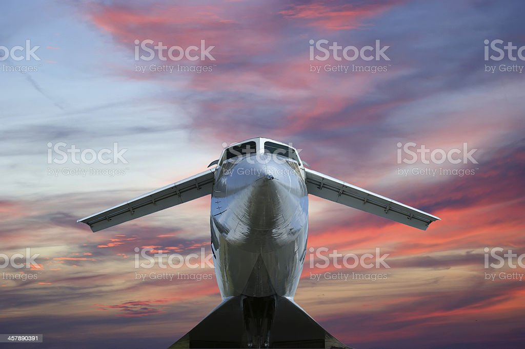 Tupolev Tu-144 (NATO name: Charger) royalty-free stock photo