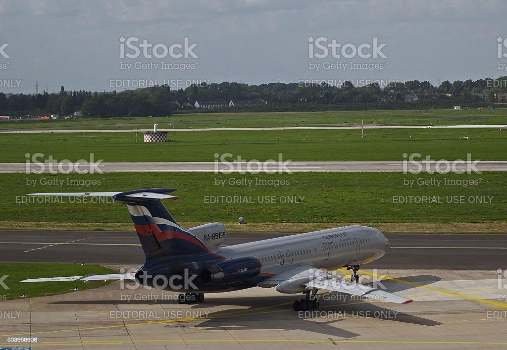 Tupolev Tu-154M of Aeroflot stock photo