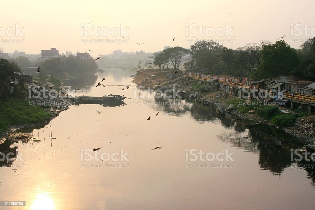 Turag River stock photo