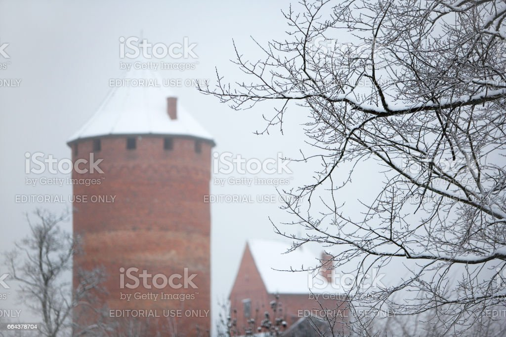 Turaida Castle stock photo