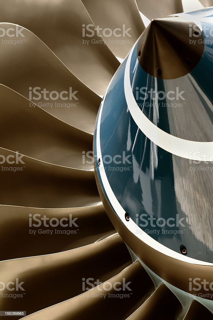 Turbine and blades stock photo