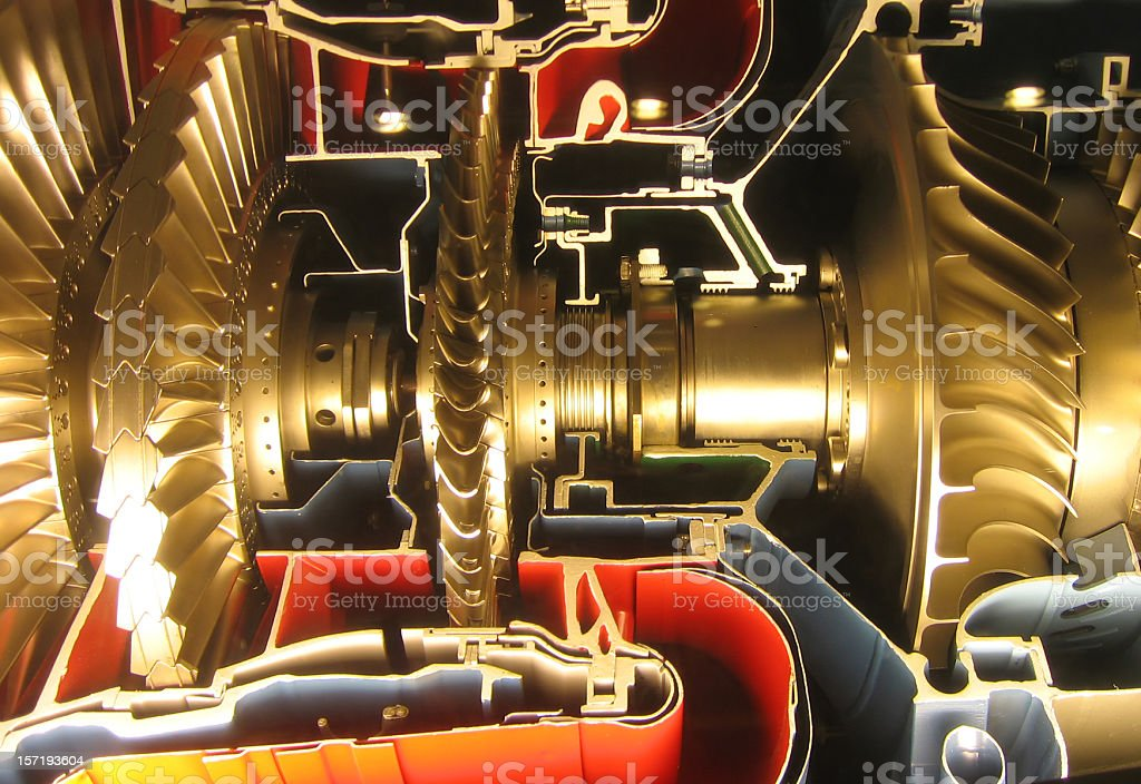 Turbine engine Cross Section Detail stock photo