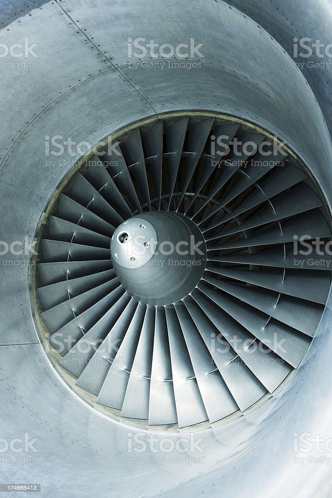 Turbine of Passenger Airplane royalty-free stock photo