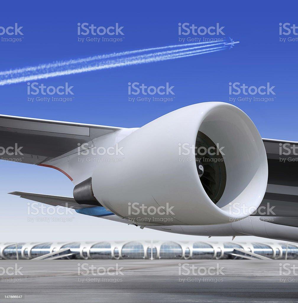 turbine of plane stock photo
