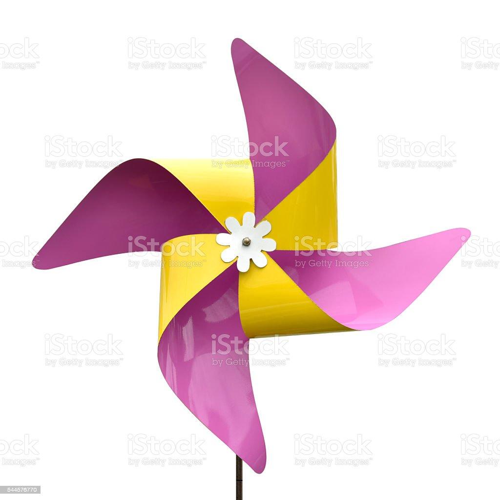 Turbine purple paper stock photo