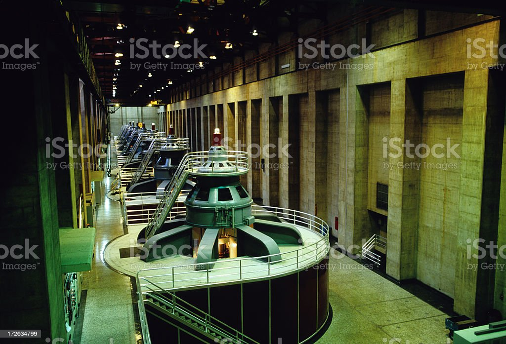 Turbines In Hydroelectric Plant royalty-free stock photo