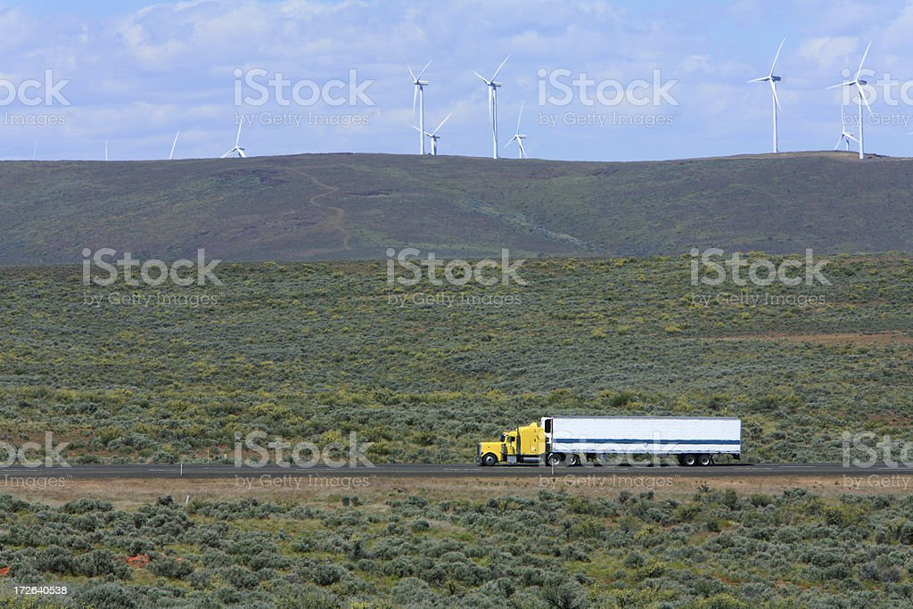 Turbines Powered By The Wind royalty-free stock photo