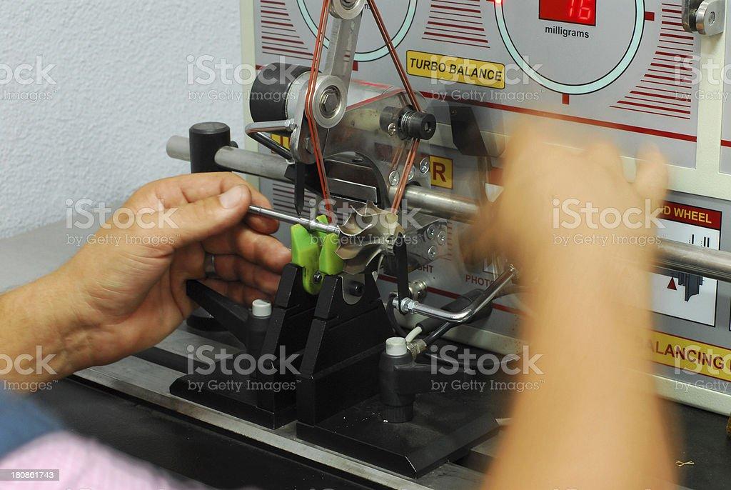 turbo balance machine royalty-free stock photo