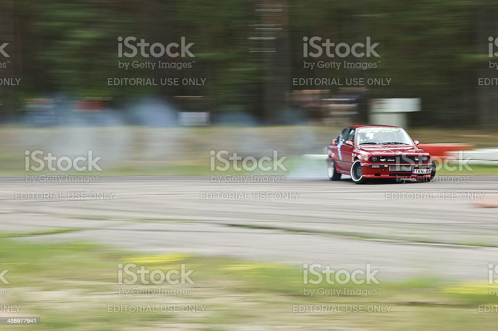 Turbo E30 drifting stock photo