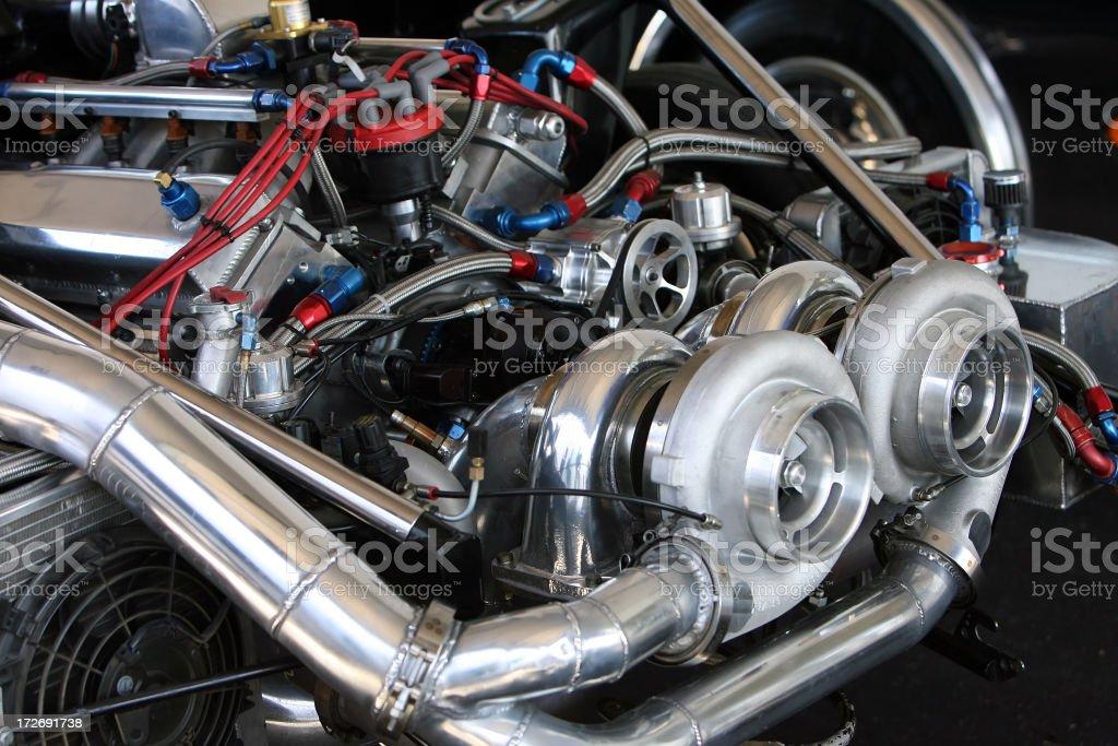 Turbo Engine stock photo