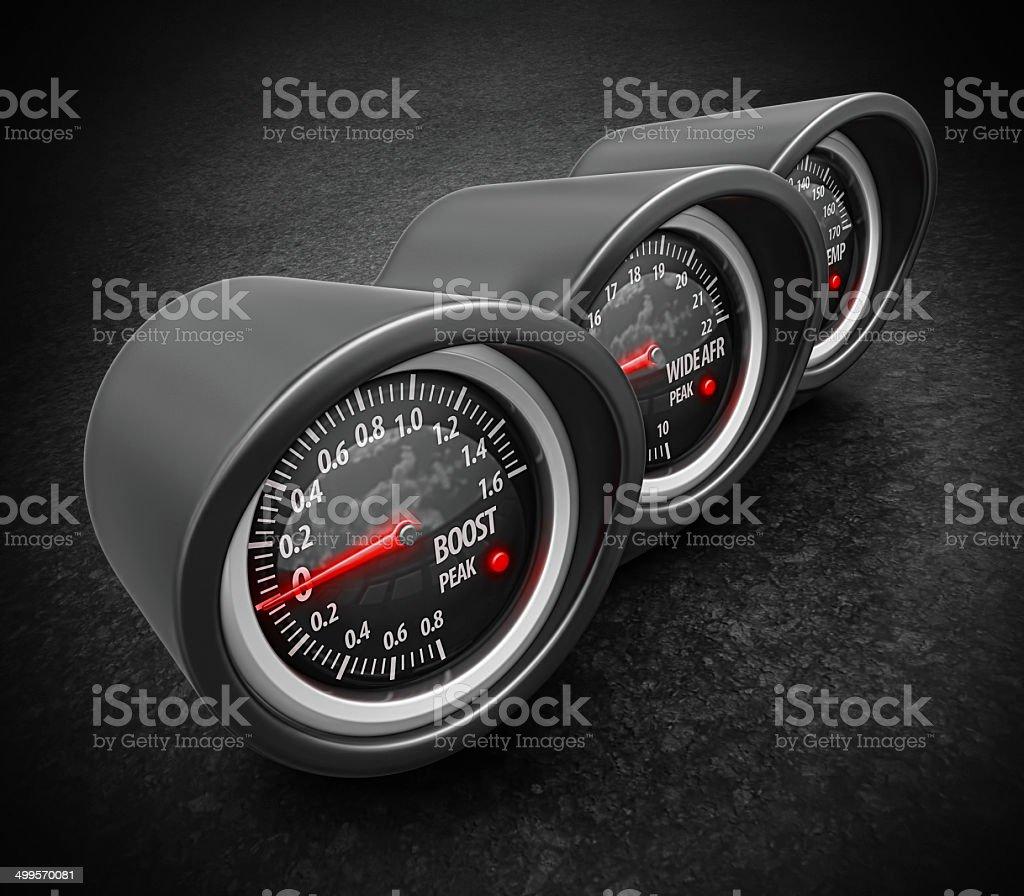 turbo gauges royalty-free stock photo