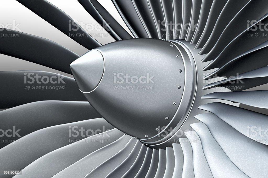 Turbo jet engine stock photo