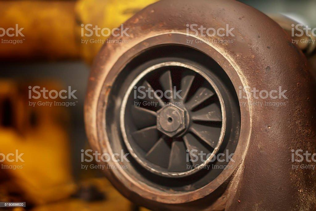 Turbocharger - Old Turbo stock photo