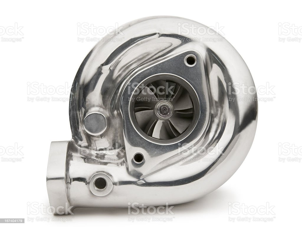 Turbocharger on White royalty-free stock photo