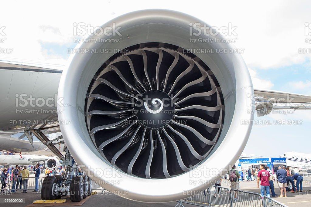Turbofan stock photo