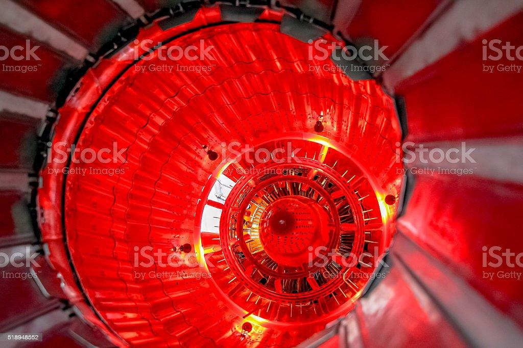Turbo-jet engine close up stock photo