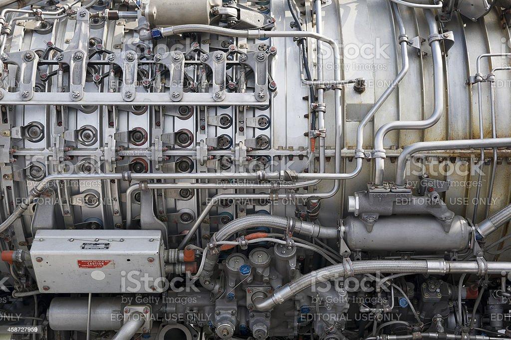 Turbojet royalty-free stock photo