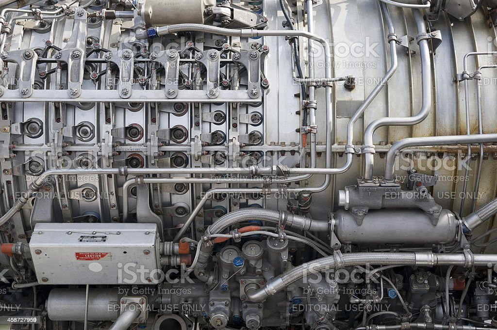 Turbojet stock photo