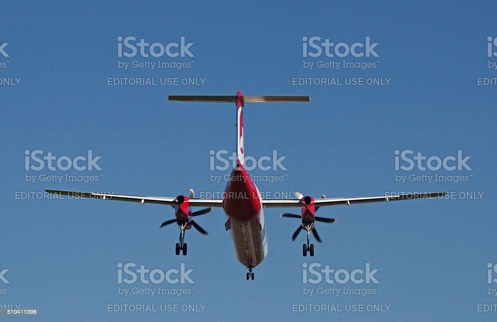 Turboprop Bombardier Dash 8 Q400 of Air Berlin stock photo