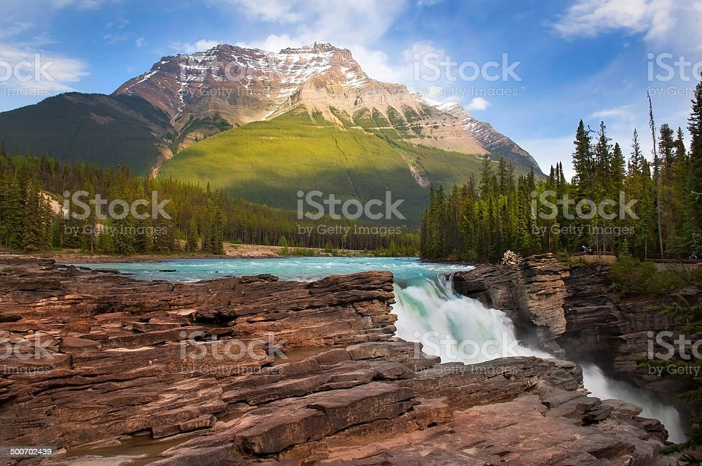 turbulent flow in the mountains stock photo