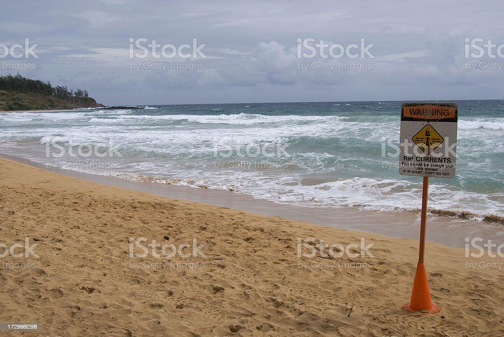 Turbulent Ocean - Closed to Visitors stock photo