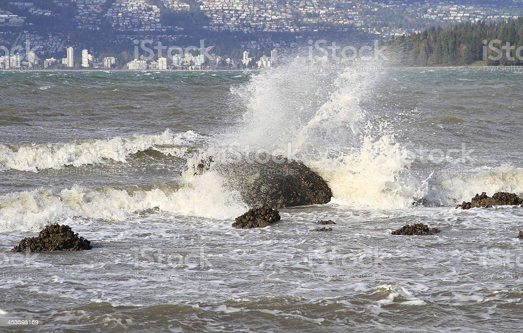 Turbulent Spray royalty-free stock photo