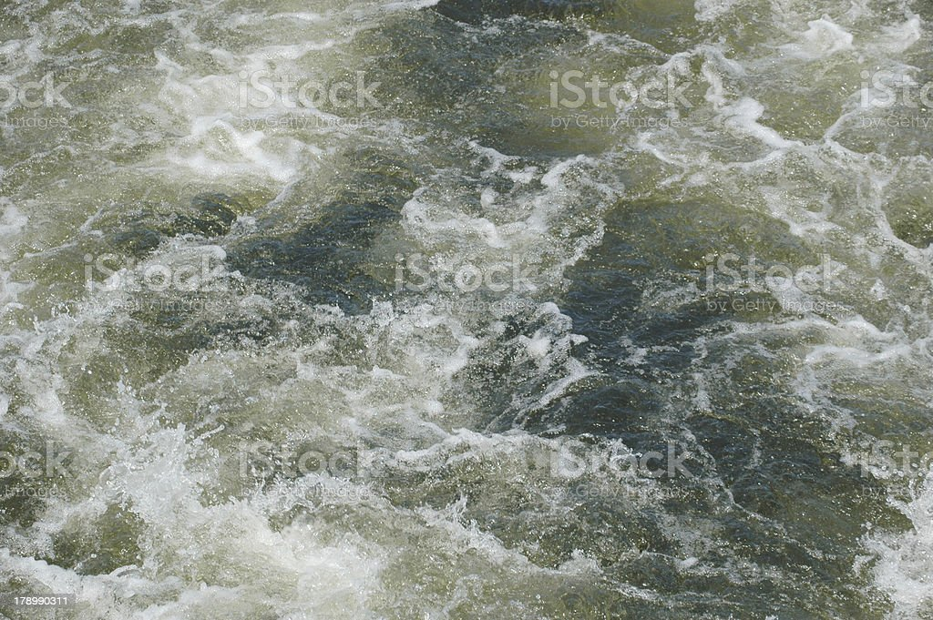 turbulent water royalty-free stock photo
