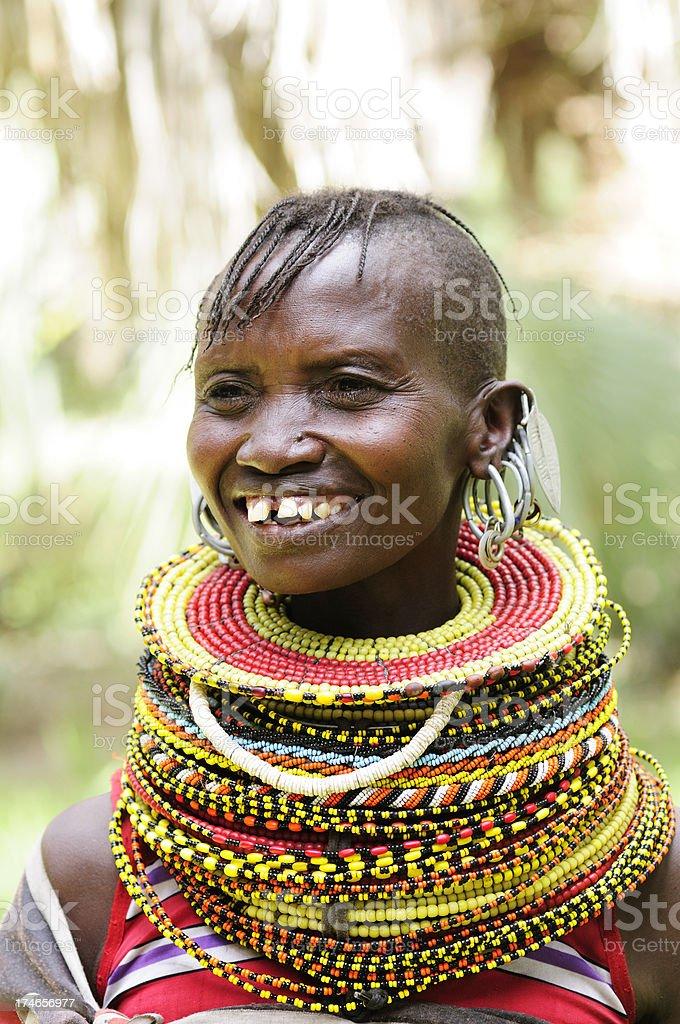 Turcana Woman stock photo