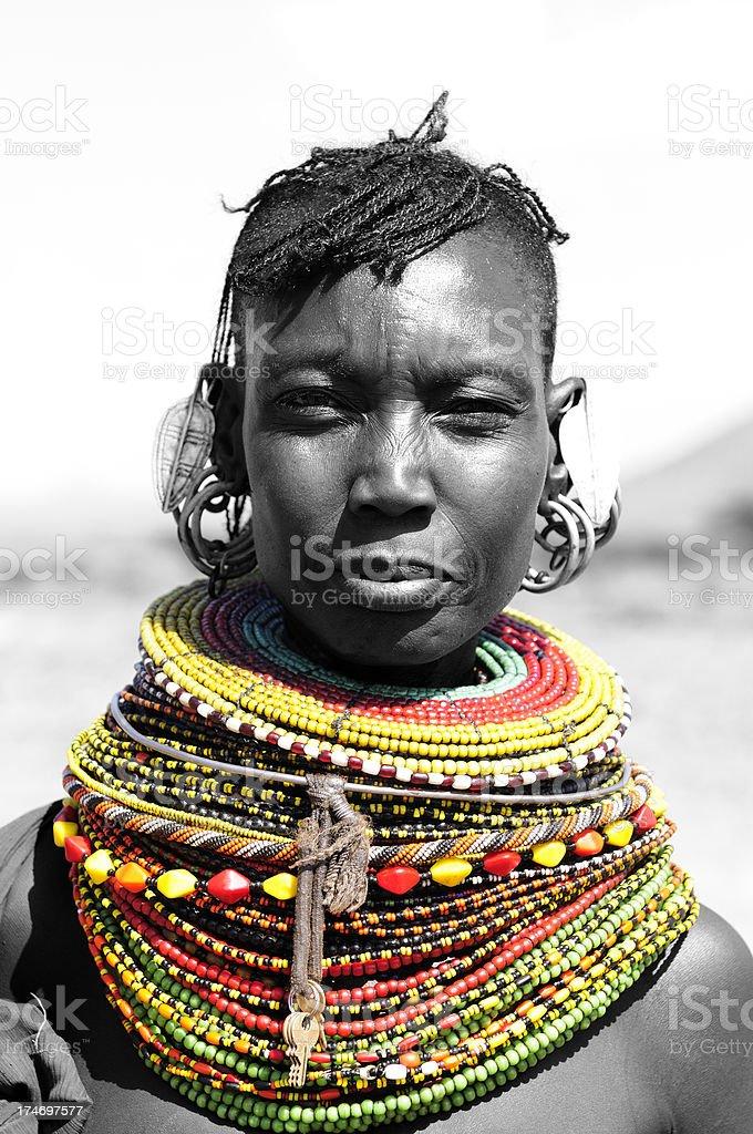 Turcana Woman royalty-free stock photo