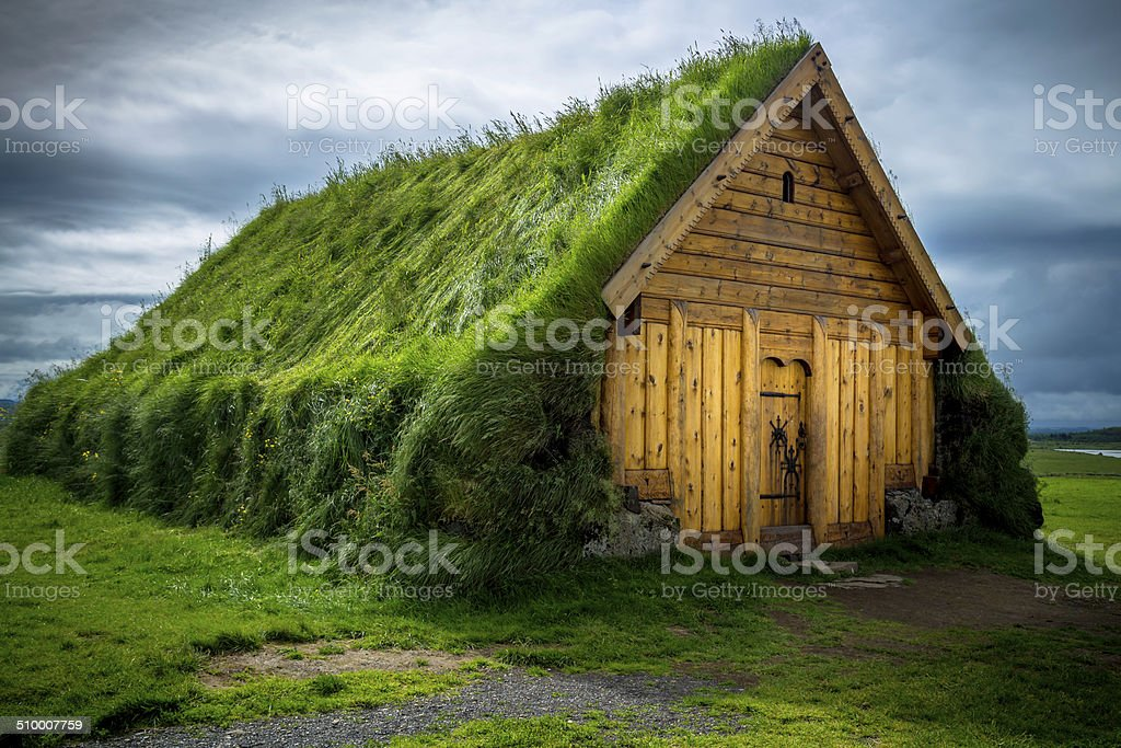 Turf House stock photo
