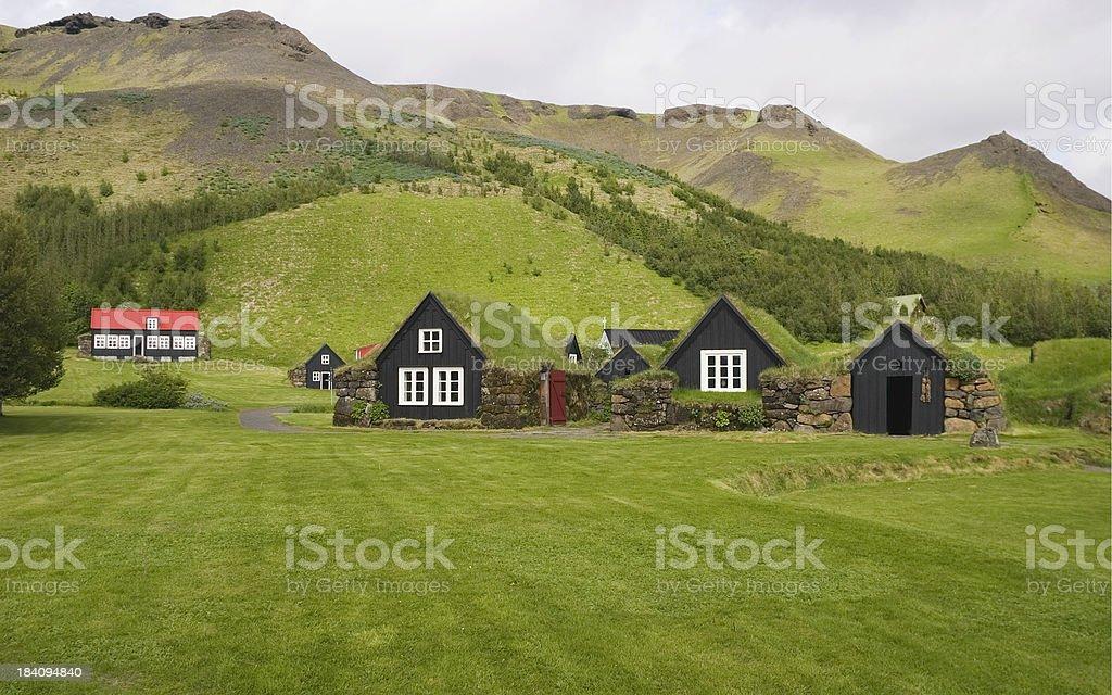 Turf Houses, Iceland royalty-free stock photo