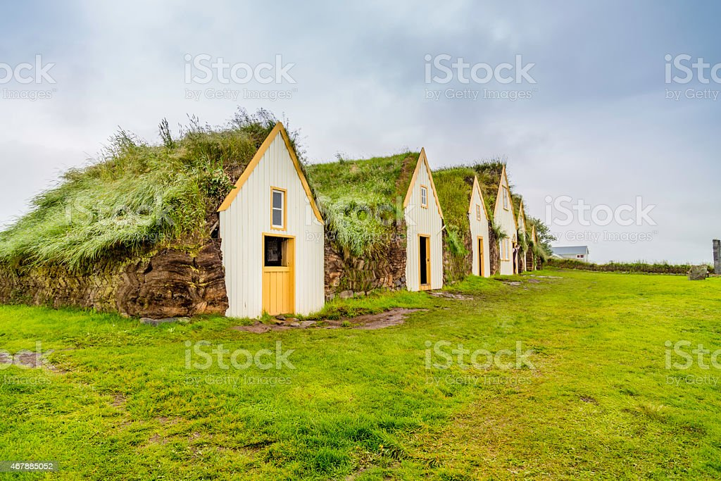 Turf Houses stock photo