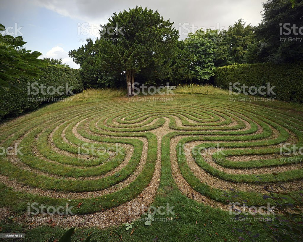Turf Labyrinth royalty-free stock photo