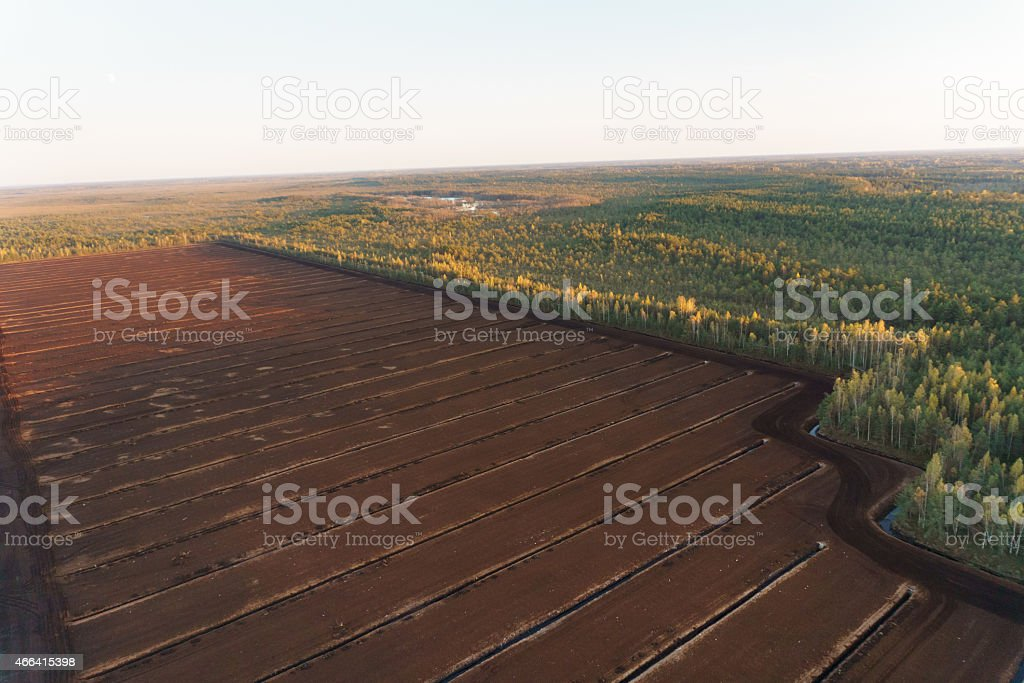 Turf mining stock photo
