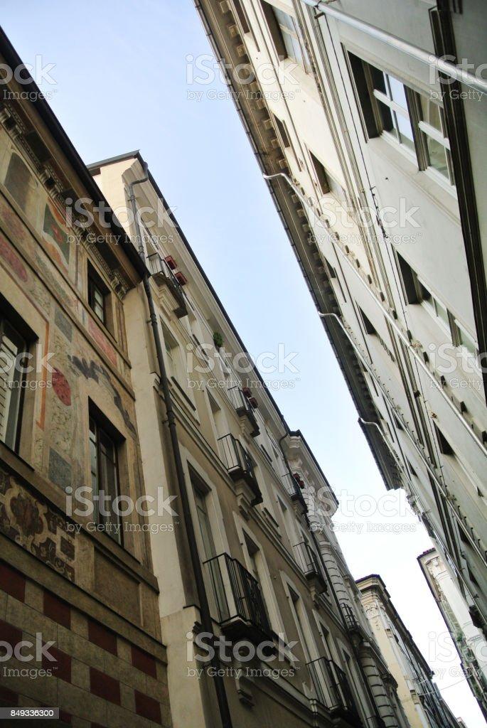 turin buildings stock photo