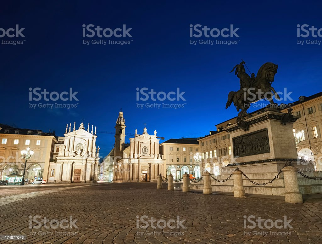 Turin by Night royalty-free stock photo