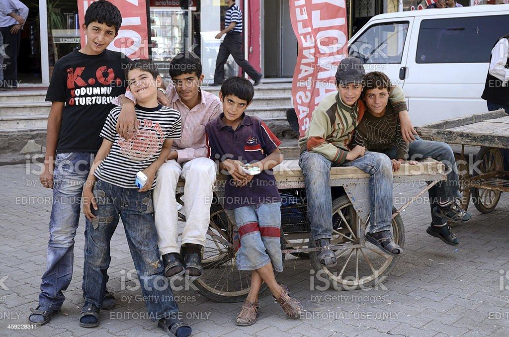 Turk boys stock photo