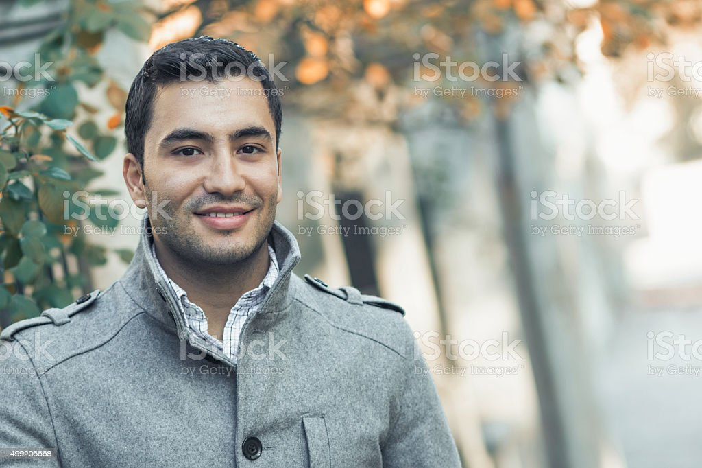 Turk or arab young man stock photo