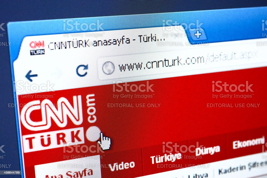 CNN Turk web page on the browser stock photo