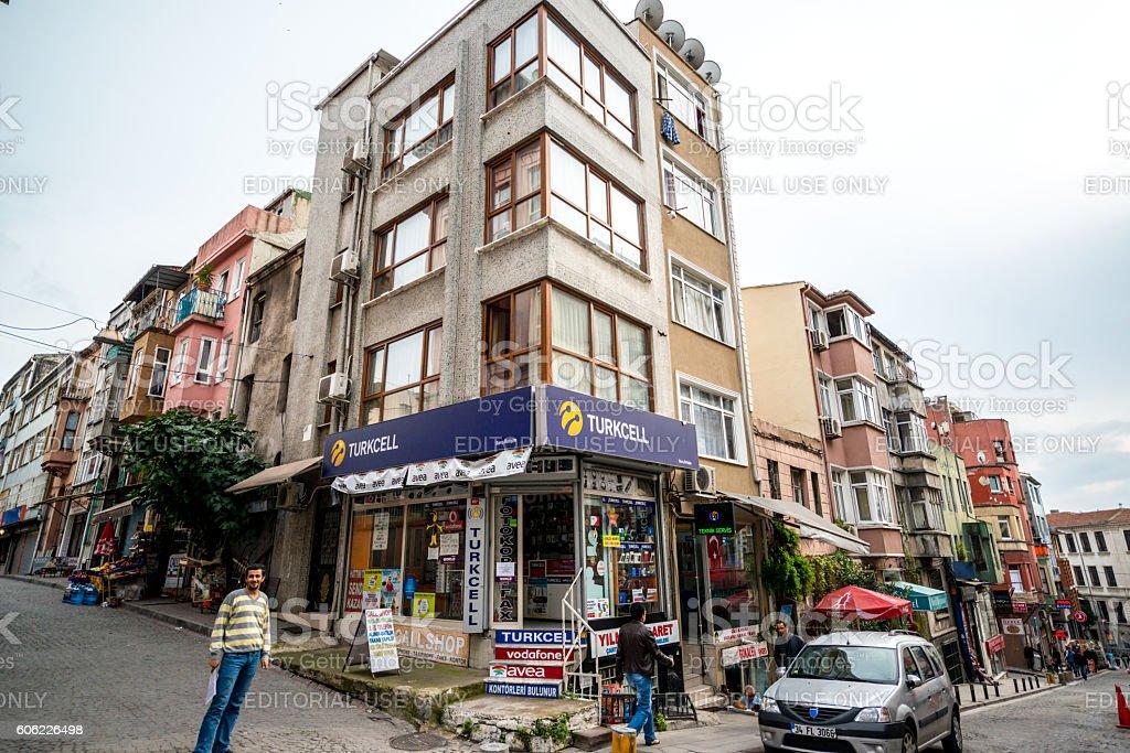 Turkcell shop in Istanbul, Turkey stock photo