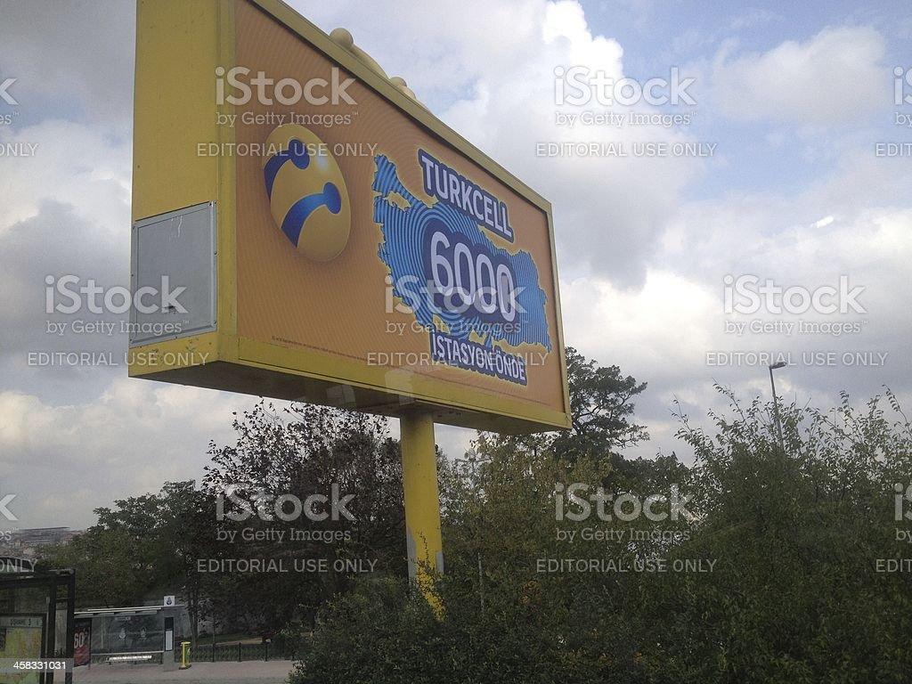 Turkcell Sing Board stock photo