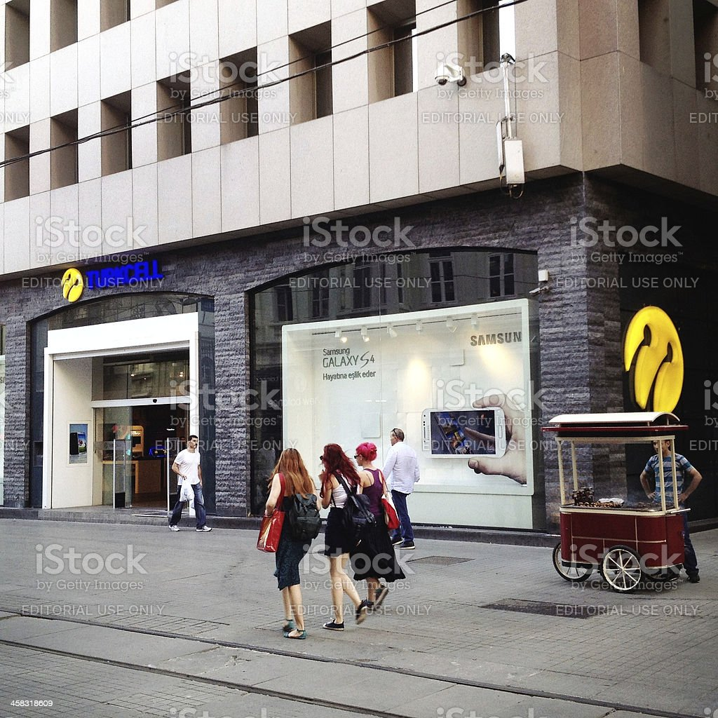 Turkcell store in istiklal street stock photo