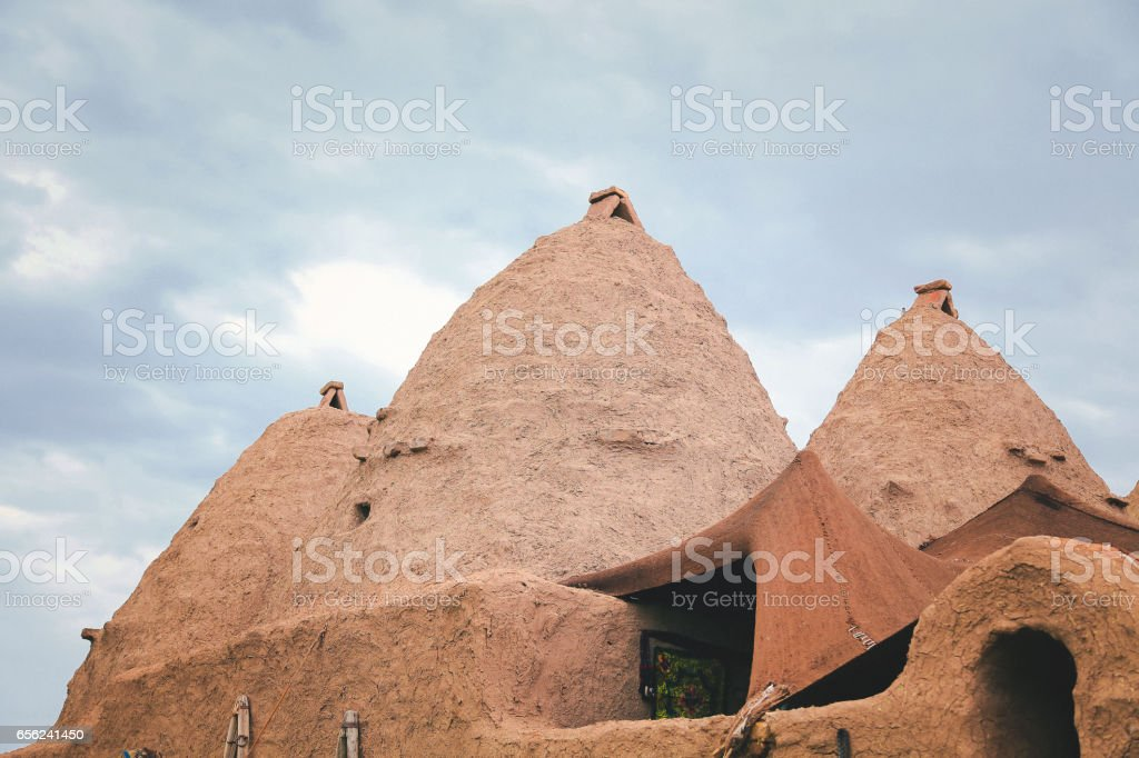 Turkey, Anatolia, South East Anatolia, Sanliurfa Province, Harran, Traditional Beehive house stock photo