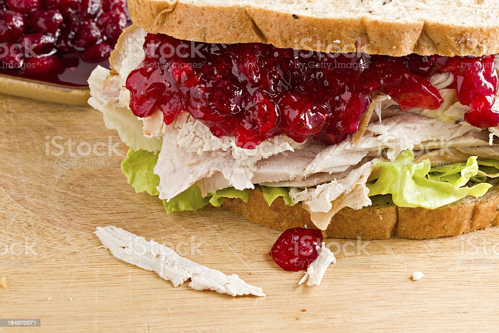Turkey And Cranberry Sandwich royalty-free stock photo